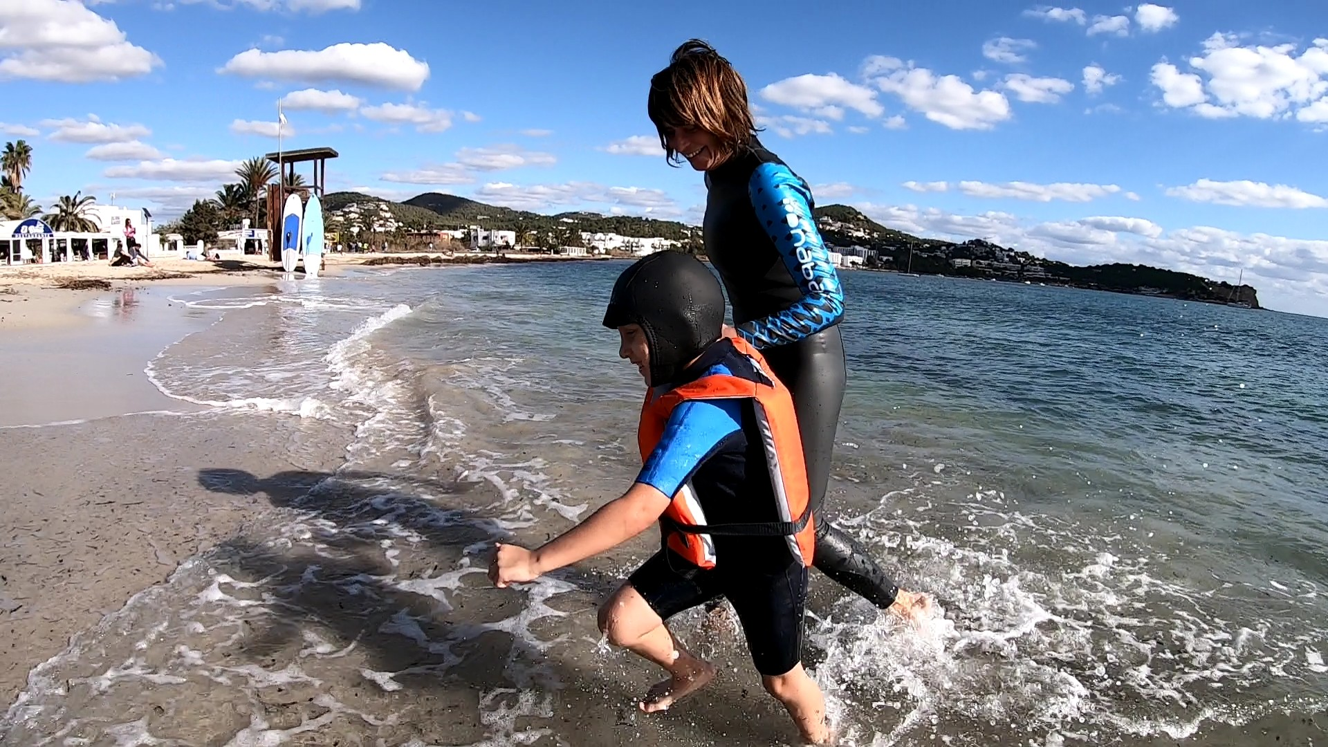 Family boat and beach days for children Talamanca Beach Ibiza Meet the Sea